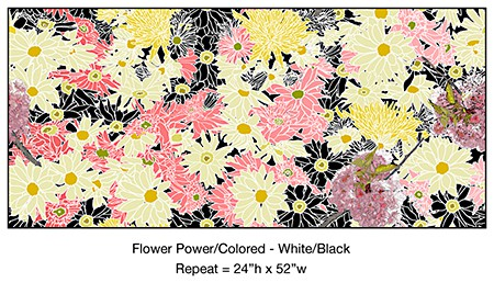 Casart coverings temporary wallpaper Flower Power, as seen on Slipcovers for your walls, casartblog