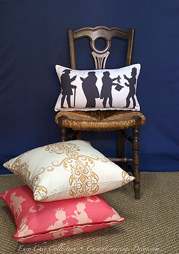 Edward Doyle Euro Chic Pillow Collection for Casart Décor on Slipcovers for your walls, casartblog
