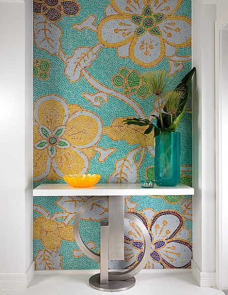 foral mosaic design on Slipcovers for your walls, casartblog