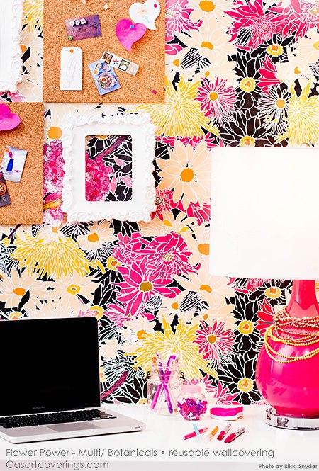 Casart Flower Power on Slipcovers for your walls, casartblog