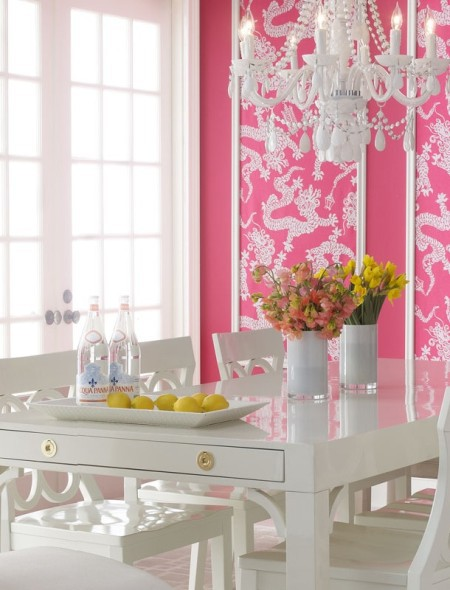 Wallcovering as accent panels, on Slipcovers for your walls, casartblog