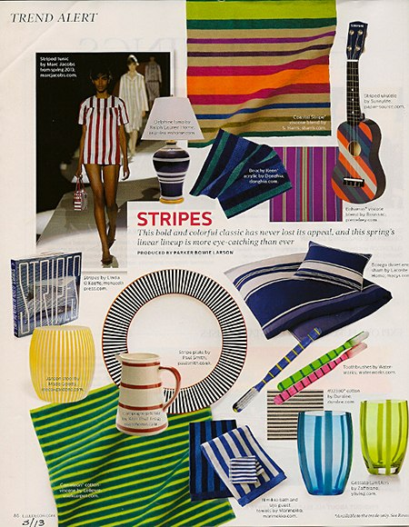 Elle Decor Stripes on Slipcovers for your walls, casartblog