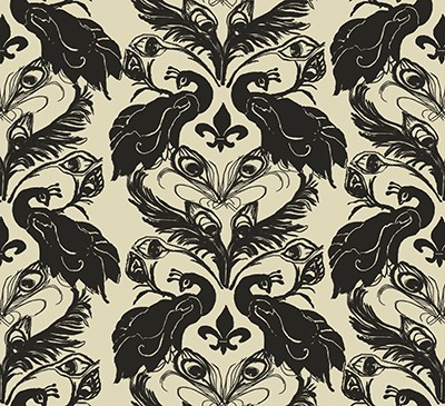 Casart French Peacock Damask / Down-Anise_casartblog