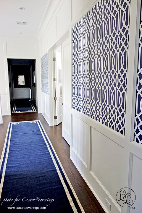 Libby Langdon Navy Day Theme with Groovy Gate Design, Holiday House Hamptons on Slipcovers for your walls, casartblog