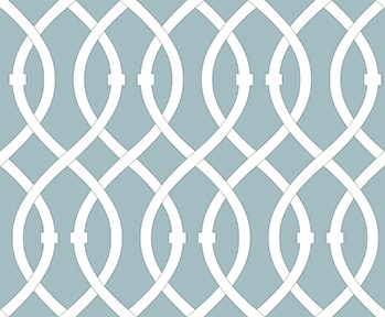 Libby Langdon, lively-lattice_aqua_on Slipcovers for your walls, casartblog