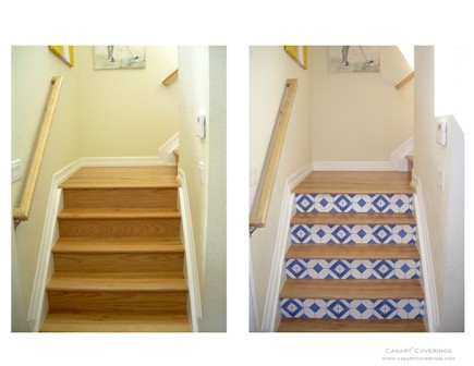 Casart faux tile stair risers on casartblog