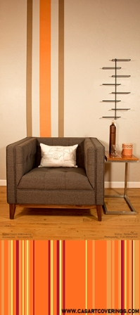 Casart Tangelo and Cup a Cocoa Individual Stripes with Combined Stripes in Sun_Stripe Collection_Room View