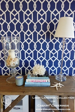 Groovy Gate in Midnight Navy-Libby Langdon Collection for Casart Coverings