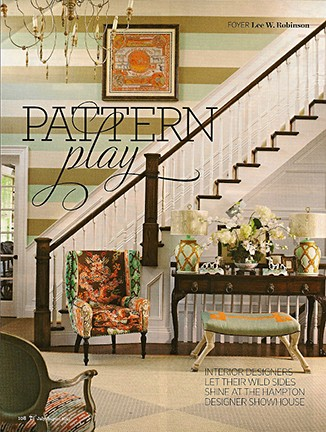 Hampton Showhouse Foyer by Lee W. Robinson on Slipcovers for your walls, casartblog
