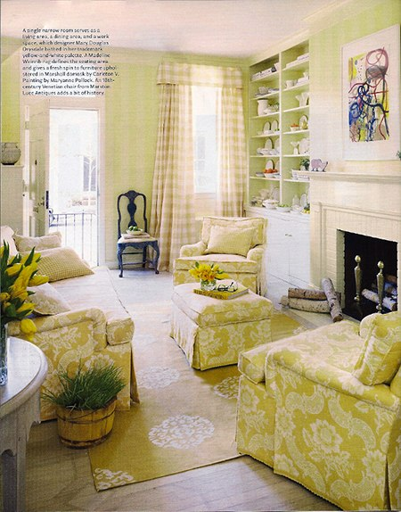 Interior design by Mary Douglas Drysdale on Slipcovers for your walls, casartblog