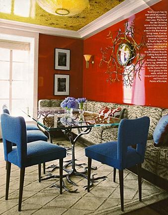 Philip Gorrivan via House Beautiful on Slipcovers for your walls, casartblog