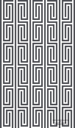 Anchor Gray and White Mini Maze-Libby Langdon Collection for Casart Coverings
