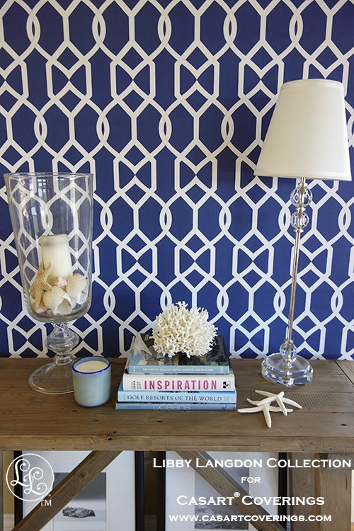Libby Langdon Groovy Gate Midnight Navy for Casart coverings