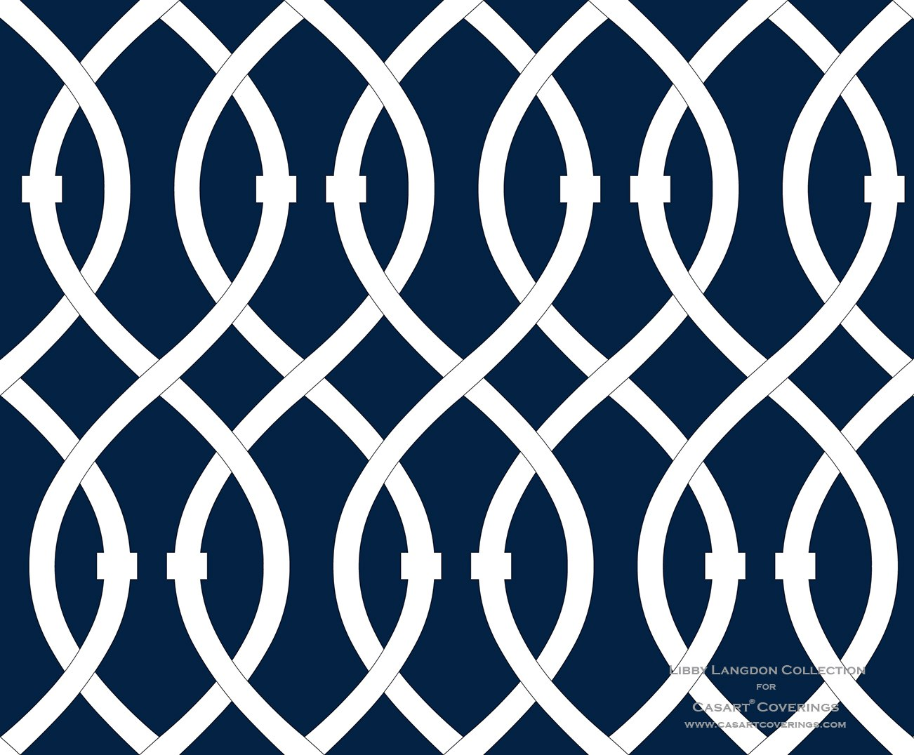 Libby Langdon Lively Lattice in Midnight Navy for Casart coverings