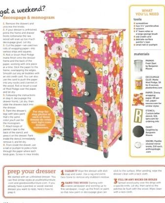 Decoupaged dresser done in a weekend_casartblog