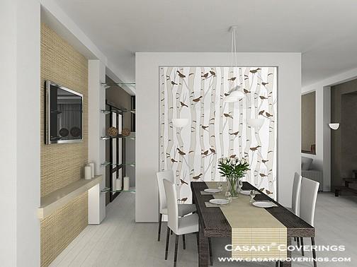 Casart Birds & Birch Interior room on Slipcovers for your walls, casartblog