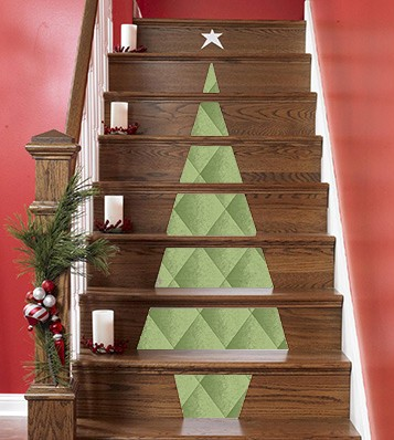 Casart_Christmas-Tree-Stair-Decoration concept on casartblog