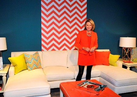 Libby Langdon Chic Chevron Accent Wall-High Point Fall, 2013