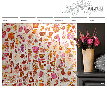 Wallpaper Company_collage wallpaper on Slipcovers for your walls, casartblog