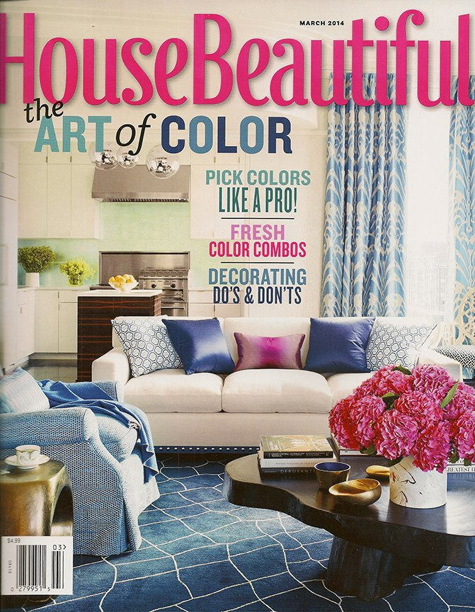 Casart coverings in House Beautiful_March 2014 cover