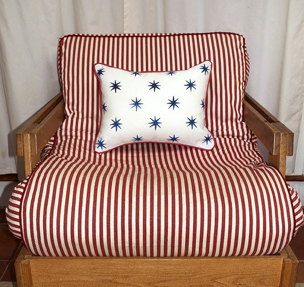 Casart Blue-Stars-Stripes_Pillow slipcover