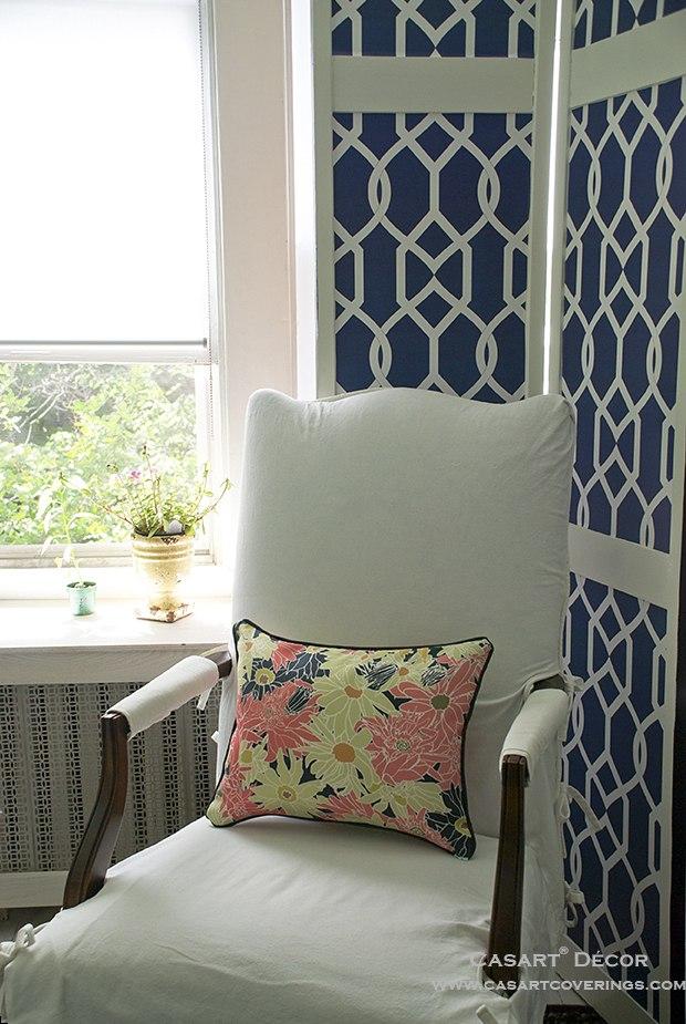 Casart Multi Flower Power Pillow_ Libby Langdon Gate Screen_casartblog