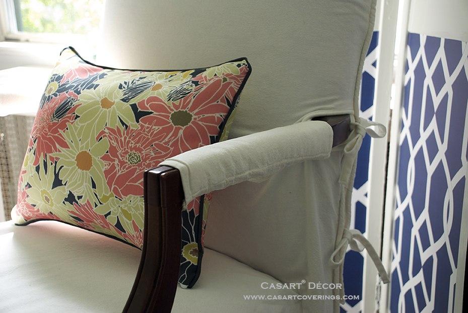 Casart Multi Flower Power Pillow_ Libby Langdon Gate Screen_detail