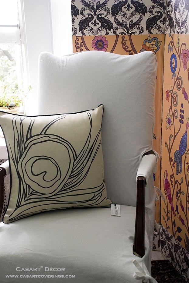 Casart Quill Pillow with Kristin Nicholas screen