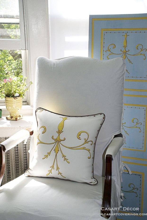 Casart Scroll Pillow_ Faux Panel Screen_casartblog