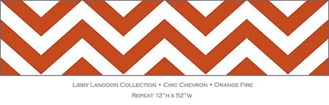 Libby Langdon Chic Chevron Orange