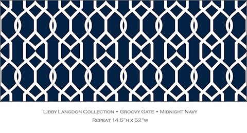 Libby Langdon Groovy Gate in Midnight Navy for Casart coverings
