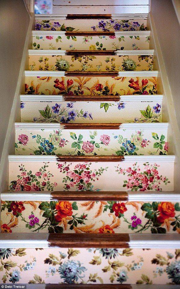Flower power stair riser via gardenia
