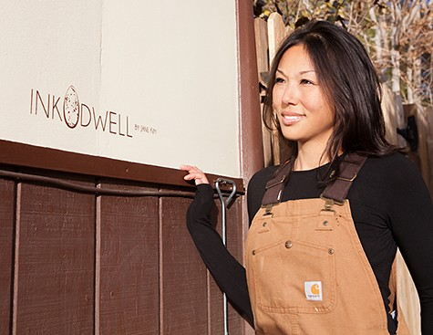 Jane Kim founder of InkDwell on Slipcovers for your walls, casartblog for Casart coverings