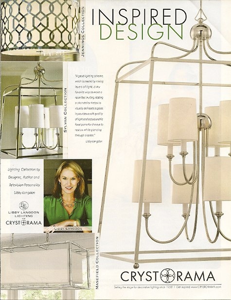 Libby Langdon Lighting Design for Crystorama on Slipcovers for your walls, casartblog