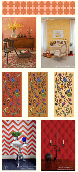 Some fall colored Casart wallcoverings on sale