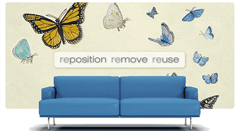 Casart coverings Butterfly wallcovering on Slipcovers for your walls_casartblog