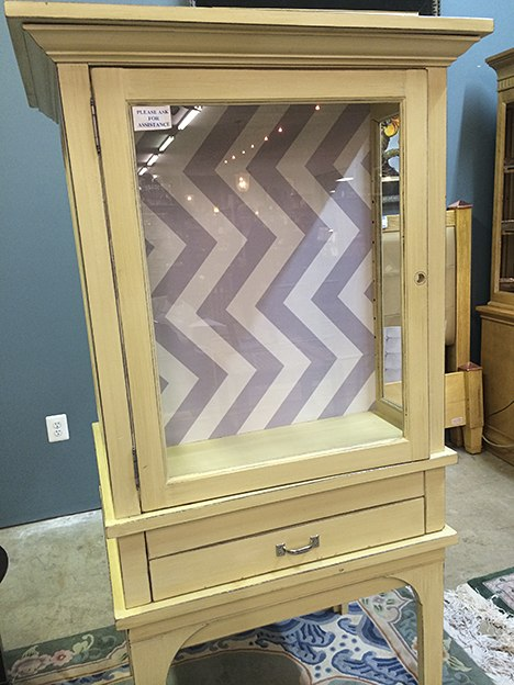 Casart coverings, Evolution Home, Libby Langdon Chic Chevron, Cabinet furniture transformation