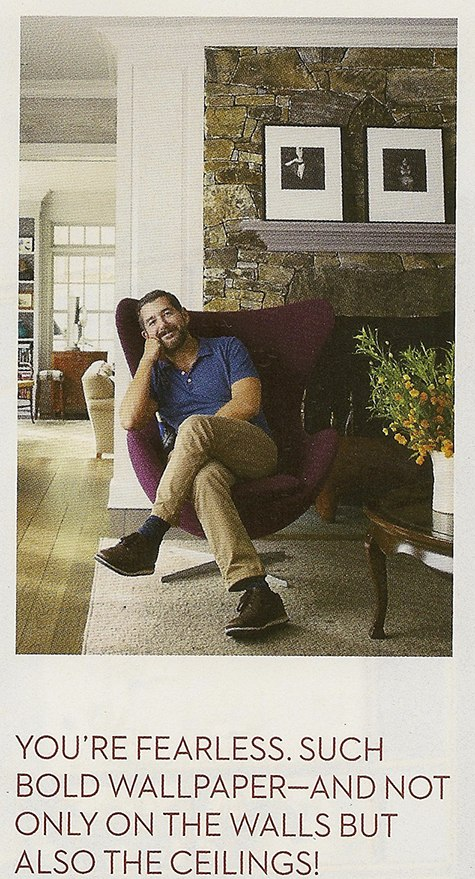 Philip Gorrivan interior designer featured on Slipcovers for your walls, casartblog