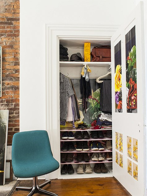 Eclectic closet photo by Jason Snyder on casartblog