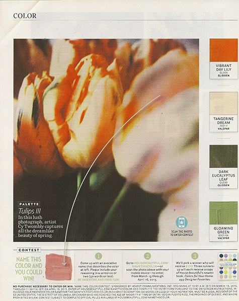 House Beautiful_tulip color on Slipcovers for your walls, casartblog