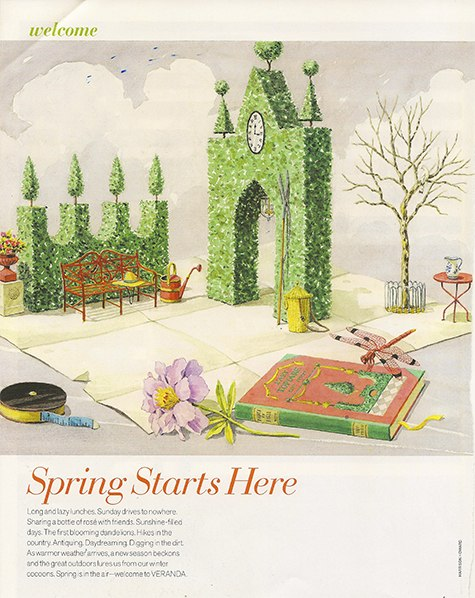 Veranda_Spring is here on Slipcovers for your walls, casartblog