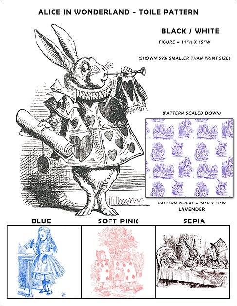 Casart coverings Alice in Wonderland_Toile Sample_casartblog