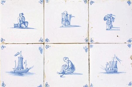 Delft Chinese-style tiles via delfttiles.com on casartblog