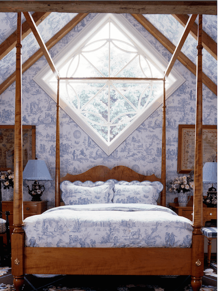 Blue and white toile via Anthony Baratta LLC on Houzz on casartblog