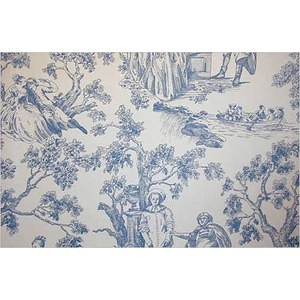 Antique Toile de jouy fabric via polyvore