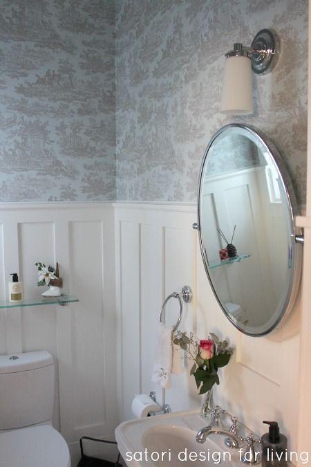 toile via satori design for living on slipcovers for your walls, casartblog