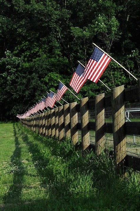 American Flags on Fence on Slipcovers for your walls, casartblog