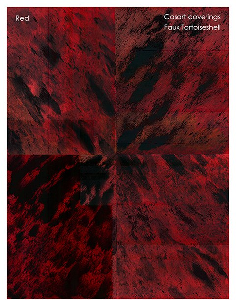 Casart coverings Red Faux Tortoiseshell 2 reusable wallcovering on Slipcovers for your walls, casartblog