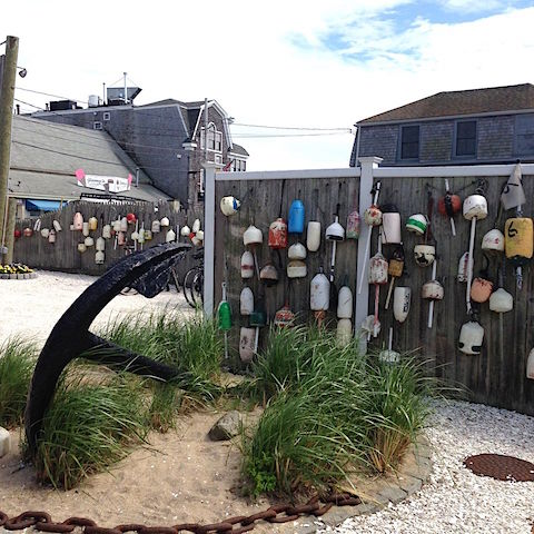 Buoys on display in Cape Cod via Palm Beach Daily News on Slipcovers for your walls, casarblog