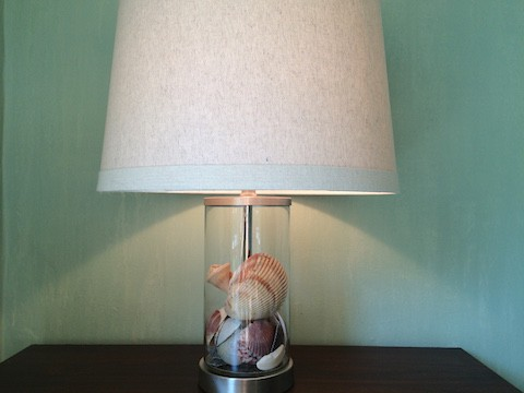 Glass Seashell Lamp_on Slipcovers for your walls, casartblog